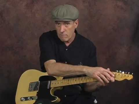 Learn Country guitar behind the nut string bending lesson on Fender Telecaster