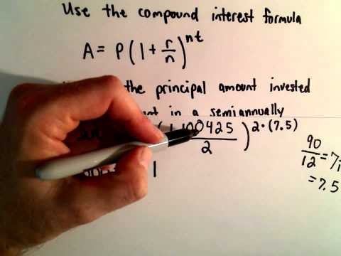Compound Interest Example - Find Starting Principal
