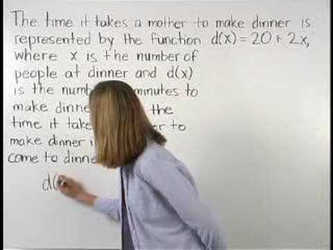 Function Word Problems - YourTeacher.com - Algebra Help