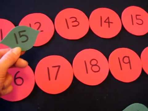 Toddler-Math. Apples and leaves