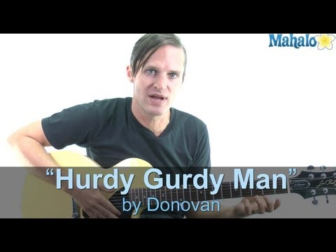 "How to Play ""Hurdy Gurdy Man"" by Donovan on Guitar (Practice Cover)"