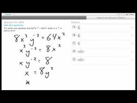 Grockit SAT Math - Multiple Choice: Question 2965