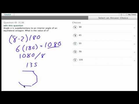 Grockit SAT Math - Multiple Choice: Question 3136