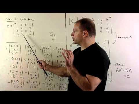 Inverse of 4x4 Matrix Using Adjugate Formula