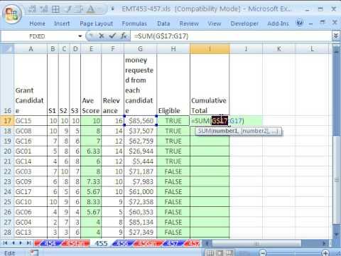 Excel Magic Trick 455: Advanced Filter Macro: Extract Grant Records Under A Cumulative Total
