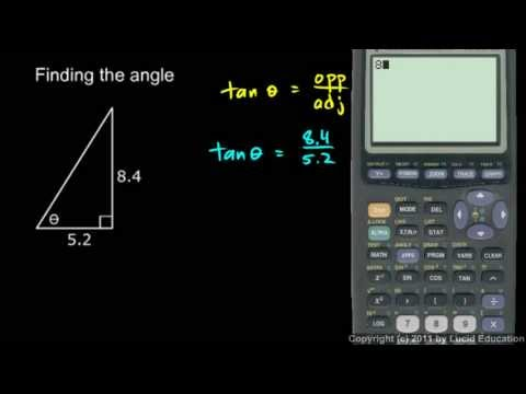 Algebra 2  11.05b - Example - Finding the Angle