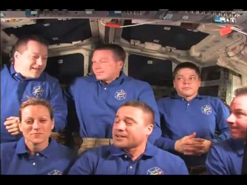 Endeavour Crew Takes Questions in Final On-Orbit Interviews