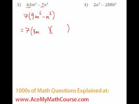 Polynomials - Factoring Completely #3-4