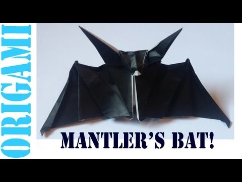 Origami Daily - 419: Mantler's Bat (Halloween) - TCGames  [HD]