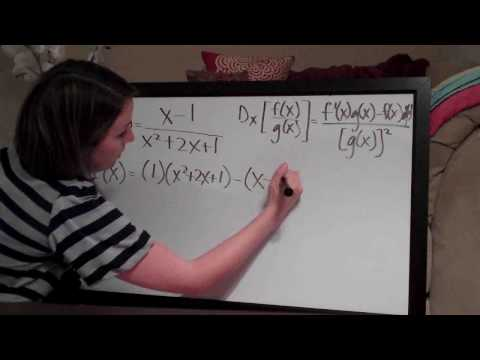 Quotient Rule Example 1