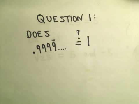 Two Very Deep Math Questions!