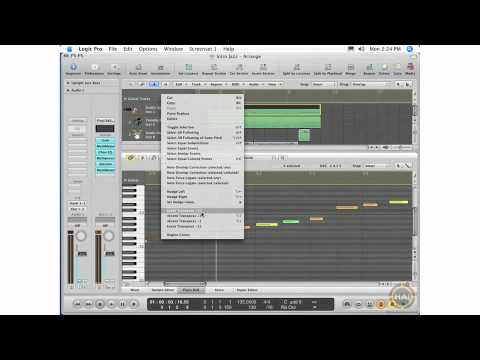 Apple Logic Pro 8 Ch 11 Editing MIDI Tracks - Piano Roll Editing, MIDI Functions Menu, Local Menu