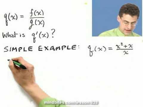 Calculus: The Quotient Rule