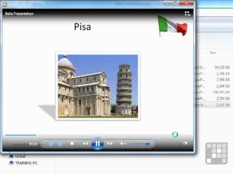 Powerpoint 2010 Tutorial - Create a Video (WMV) from a Presentation