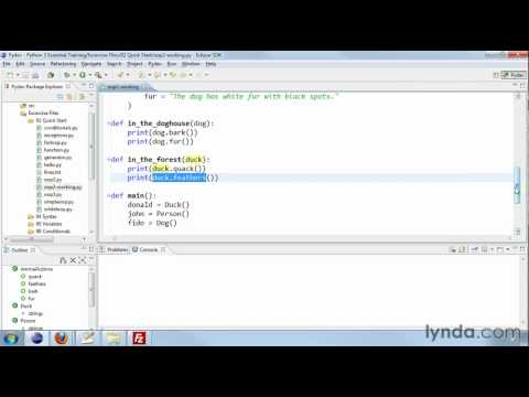 Working with inheritance and polymorphism in Python   lynda.com tutorial