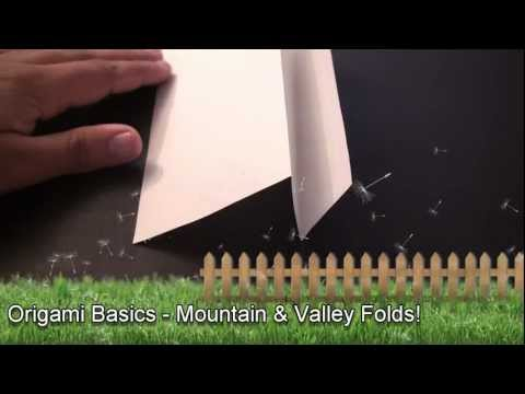 Origami Daily - Basics: Mountain and Valley Folds - TCGames [HD]