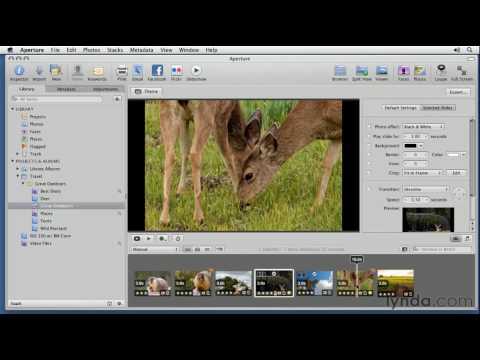 Aperture: Exploring the Slideshow features   lynda.com tutorial