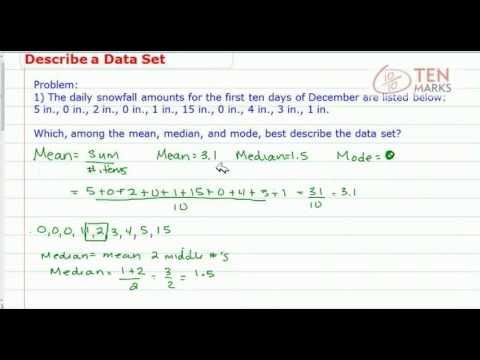 Describe a Data Set