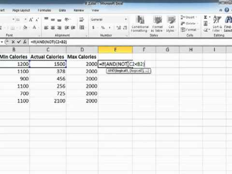Learning Excel 2010 Using The NOT Operator Within AND And OR Statements