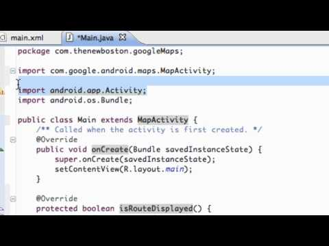 Android Application Development Tutorial - 131 - Displaying the MapView