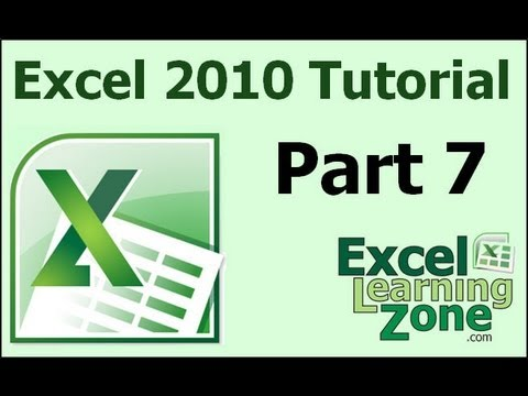 Microsoft Excel 2010 Tutorial - Part 07 of 12 - Formatting 1