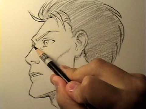 "How to Draw a ""Realistic"" Manga Face in Profile [HTD Video #14]"