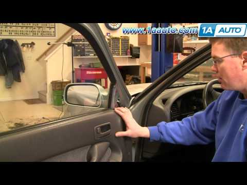 How To Install Replace Broken Side Rear View Mirror Toyota Camry 92-96 1AAuto.com