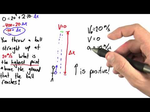 Positive or Negative - Intro to Physics - Motion - Udacity