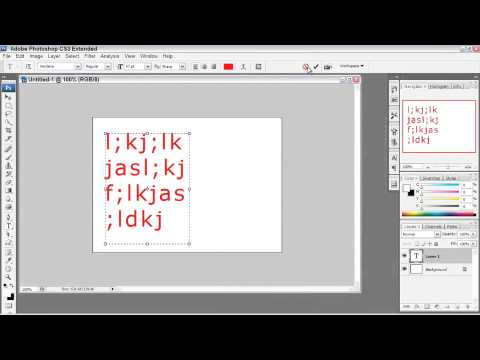 Adobe Photoshop CS3: Essentials:  RASTER VS. VECTOR-BASED IMAGES :  Creating Text