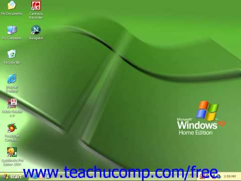 Windows XP Tutorial Selecting a Printer Microsoft Training Lesson 8.1