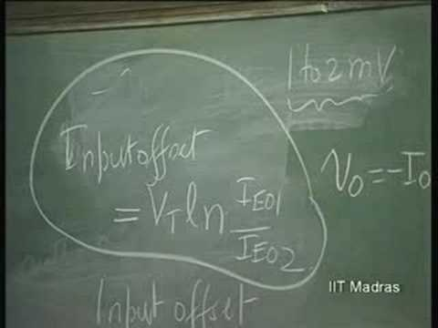 Lecture - 33 BJT Differential Amplifiers