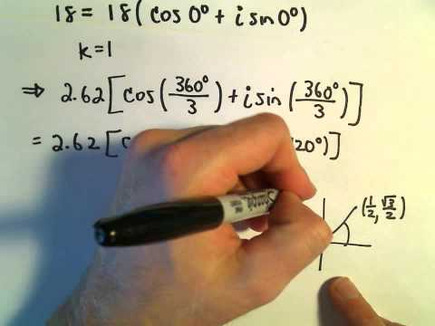 More Roots of Complex Numbers, Ex 2