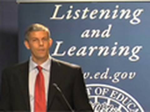 Rewrite No Child Left Behind Now:  Secretary Duncan at Stakeholders Meeting (September 24, 2009)