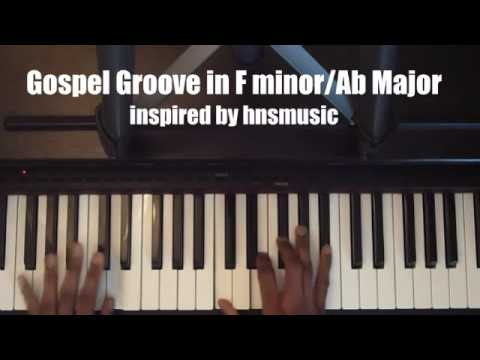 Smooth Piano Gospel Groove in F minor / Ab Major
