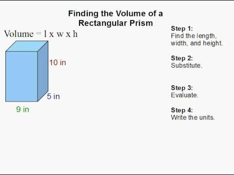 How to Find the Volume of a Rectangular Prism
