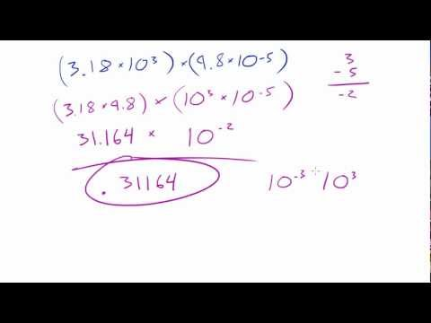 Introduction to Physics - Lesson 5 - Multiplication in Scientific Notation