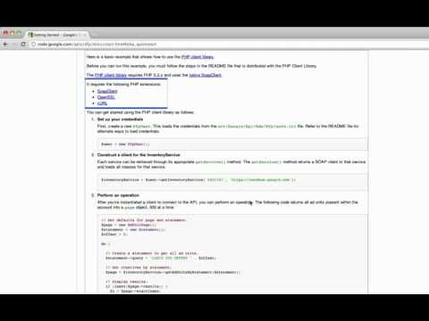 Getting Started with the PHP Client Library for DoubleClick For Publishers API