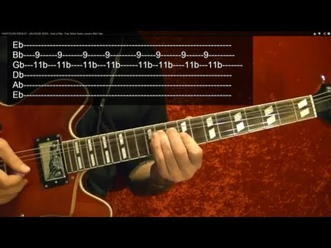 JAILHOUSE ROCK ( Guitar Lesson ) by ELVIS PRESLEY