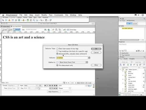 Adobe  Dreamweaver CS3 CREATING CSS LAYOUTS   Creating Tag & Class Styles