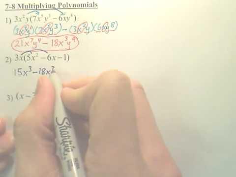 Algebra 1  7.8a