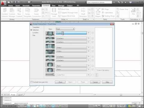Content Libraries — AutoCAD Mechanical 2011
