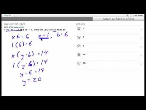 Grockit SAT Math - Multiple Choice: Question 3125