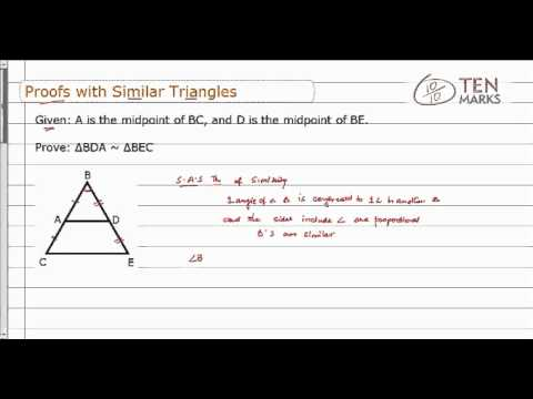 Write Proofs with Similar Triangles