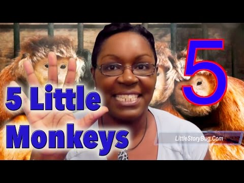 Preschool songs - Five Little Monkeys - LittleStoryBug