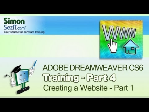 Dreamweaver CS6 Tutorial:  Basic HTML - Part 1