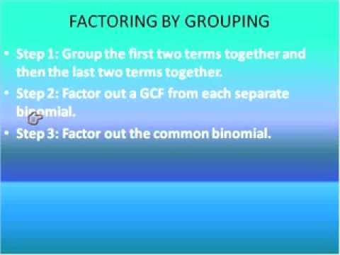 More Factoring Patterns