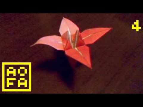 Origami Flower - How to make an Origami Flower (Lily - Iris) ...for all (04)