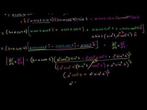 Example of calculating a surface integral part 3