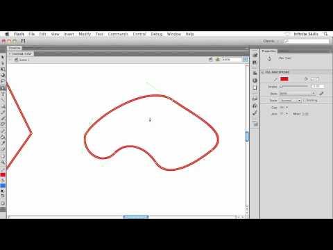 Adobe Flash CS6 Tutorial   Manipulating Anchor Points, Part 1/2