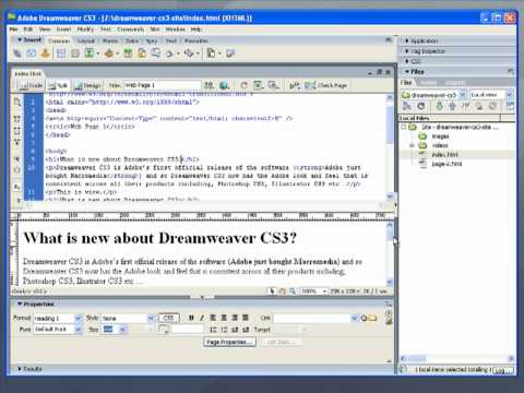 Dreamweaver CS3 - The Three Editor Views